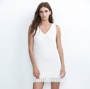 Velvet White Lace Dress